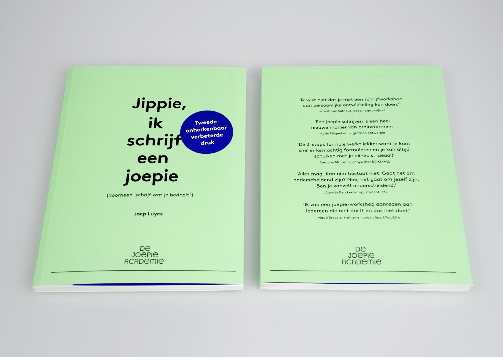 Jippie, ik schrijf een joepie, de joepie academie, studio enkelvoud