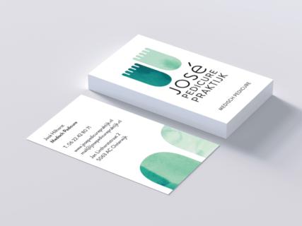 José Pedicurepraktijk, pedicure, voeten, groen, identiteit, logo, grafisch ontwerp, ontwerp, studio, graphic design