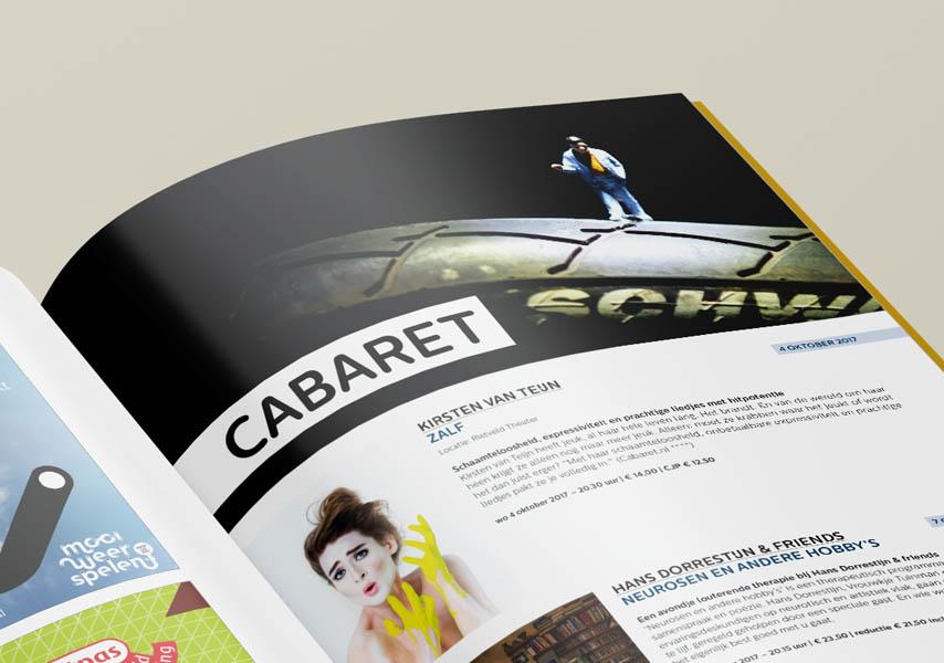Theater de Veste, Seizoen 17|18, Studio Enkelvoud, seizoensbrochure, toneel, campagnebeeld, grafisch ontwerp, fotografie, miniatuur, miniature, editorial, grafisch ontwerp, lay-out, brochure, dans, cabaret