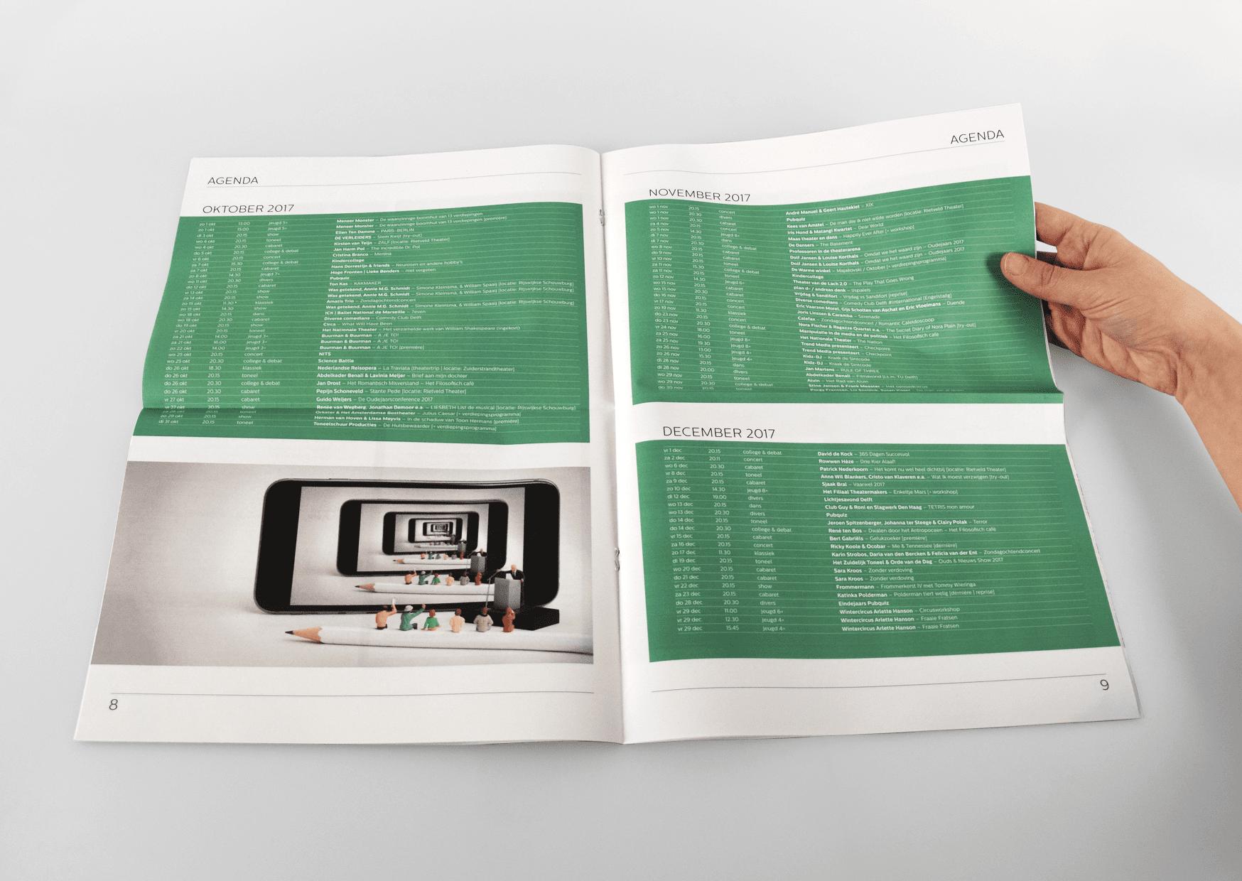 Theater de Veste, Seizoen 17 18, Studio Enkelvoud, seizoensbrochure, toneel, campagnebeeld, grafisch ontwerp, fotografie, miniatuur, miniature, theaterkrant, seizoenskrant, 2017, 2018