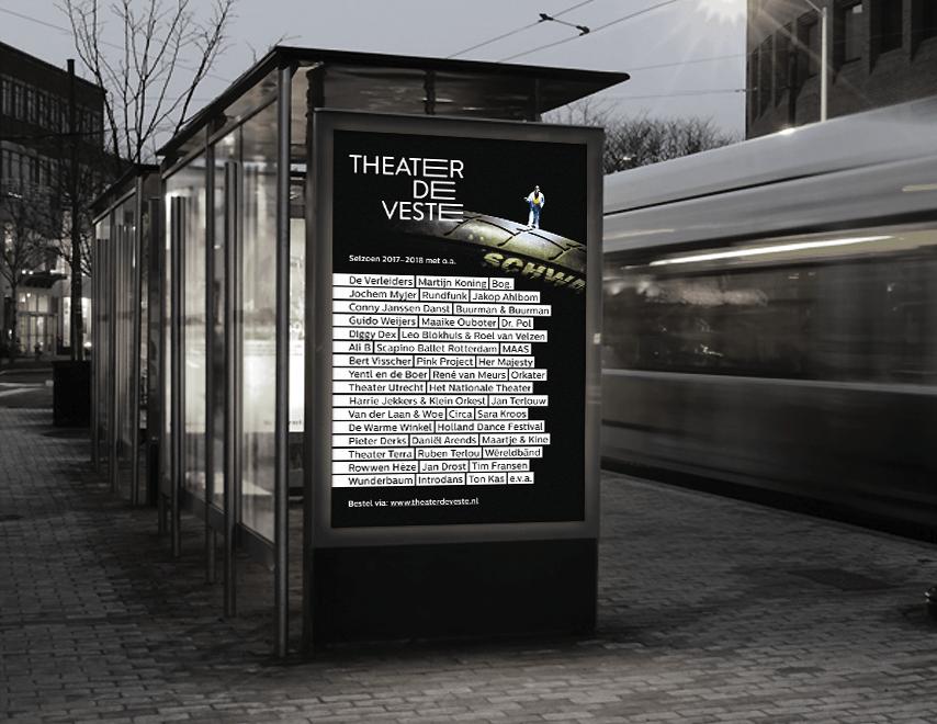 Theater de Veste, poster 17|18, Studio Enkelvoud, seizoensbrochure, cabaret, grafisch ontwerp, fotografie, miniatuur, miniature