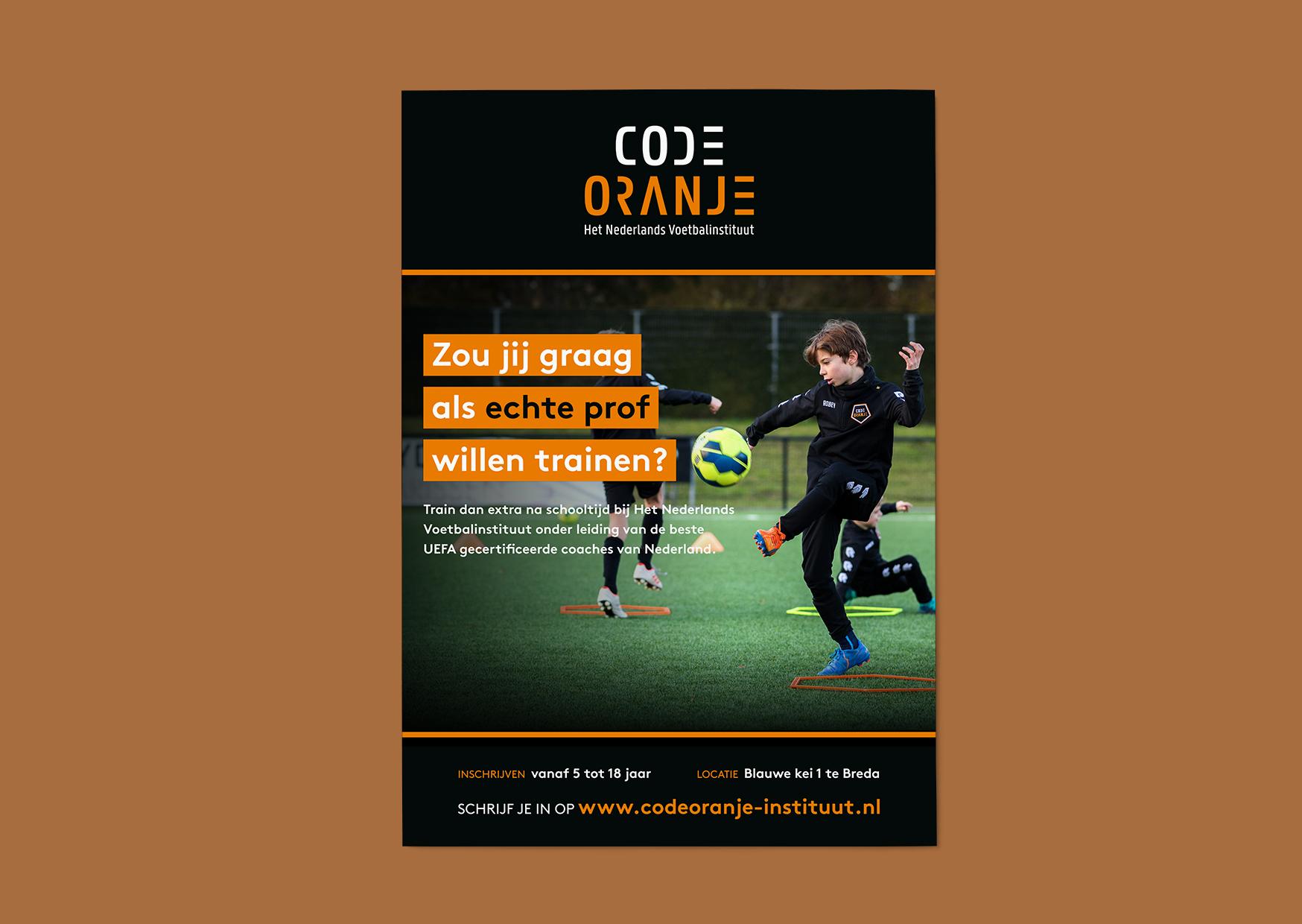 code oranje, code, embleem, oranje, voetbal, logo, identiteit, huisstijl, ontwerp, grafisch, grafisch ontwerp, graphic design, identity, football, nederland