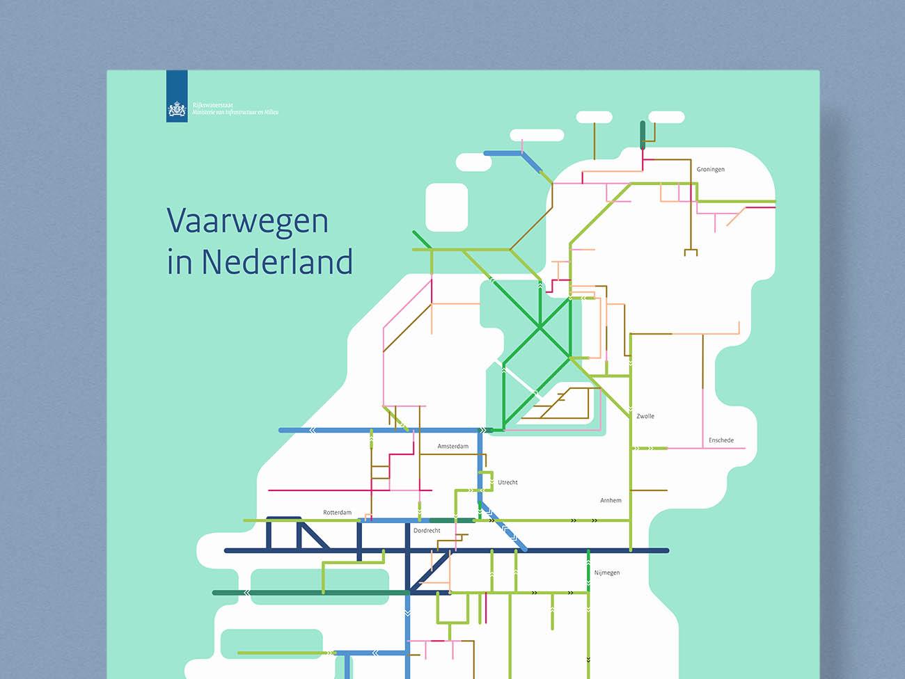 Rijkswaterstaat, vaarwegenkaart, Studio enkelvoud, overheid, tweede kamer, infographic, simpel, eenvoud, grafisch, ontwerp