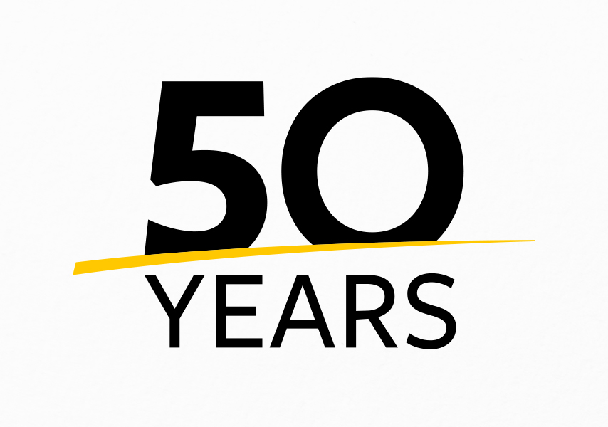 Solidaridad, jubileumlogo, logo, jubileum, 50 years, 50 jaar, animatie, gif, feest, goud, gouden, visitekaartje, business card, lint, lintje, magazine