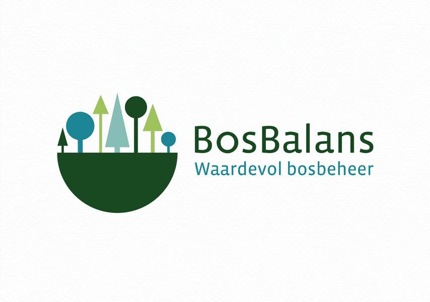 Bosbalans, identiteit, huisstijl, logo, visitekaartje, balans, bossen, groen, blauw
