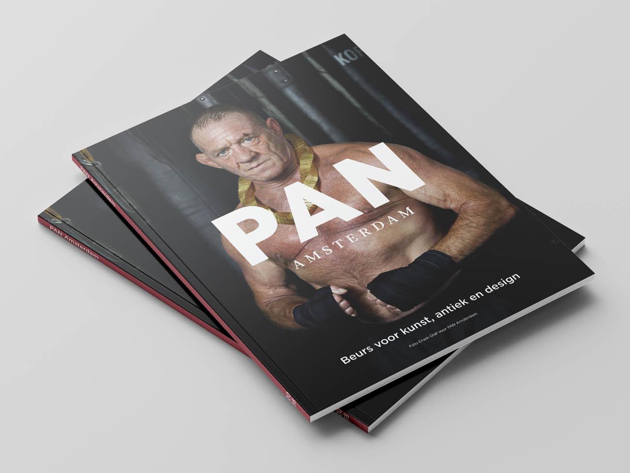PAN Amsterdam, Amsterdam, 2018, beurs, kunst, art, fair, antiek, design, grafisch, ontwerp, grafisch ontwerp, graphic design, campagne, erwin olaf, fotografie, folder, pan podium, podium, flyer, editoriaal, erwin olaf, magazine, editoriaal