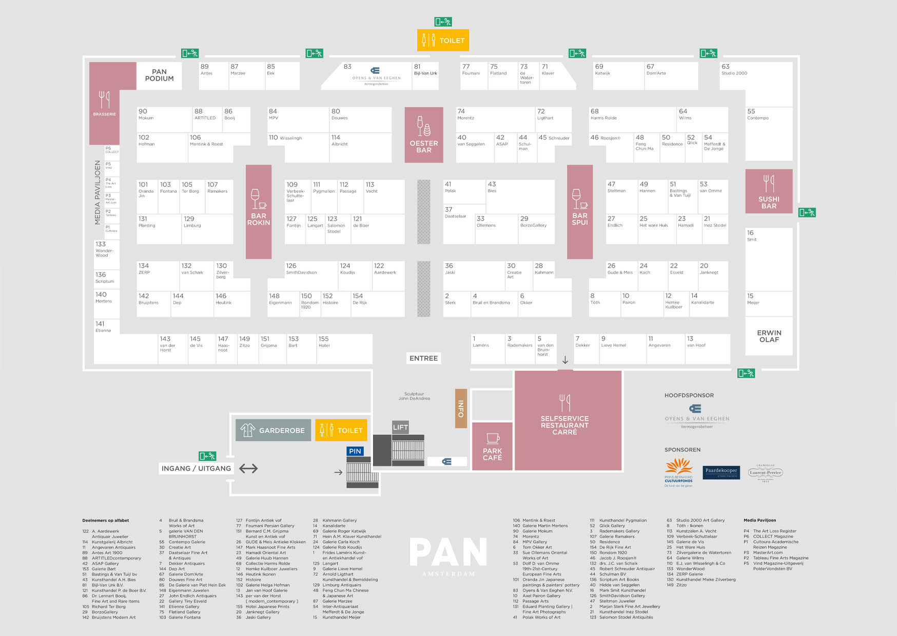 PAN Amsterdam, Amsterdam, 2018, beurs, kunst, art, fair, antiek, design, grafisch, ontwerp, grafisch ontwerp, graphic design, campagne, erwin olaf, fotografie, folder, pan podium, podium, flyer, editoriaal, erwin olaf, plattegrond, plattegrondbord, folder, bord, signing, beurs