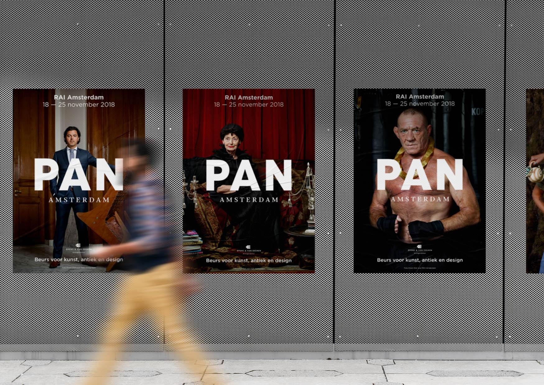 PAN Amsterdam, Amsterdam, 2018, beurs, kunst, art, fair, antiek, design, grafisch, ontwerp, grafisch ontwerp, graphic design, campagne, erwin olaf, fotografie, folder, pan podium, podium, flyer, editoriaal, erwin olaf, plattegrond, plattegrondbord, folder, bord, signing, beurs, tas